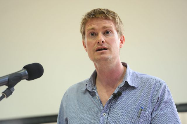The Shadow Education Secretary, Tristram Hunt, speaking at researchED