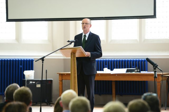 Schools Minister Nick Gibb, delivering his session at researchED 2014