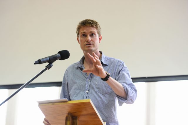 Shadow Education Secretary Tristram Hunt delivery his session to the researchED audience