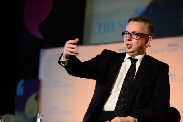 Former education secretary Michael Gove MP speaking at the Festival of Education 2014.