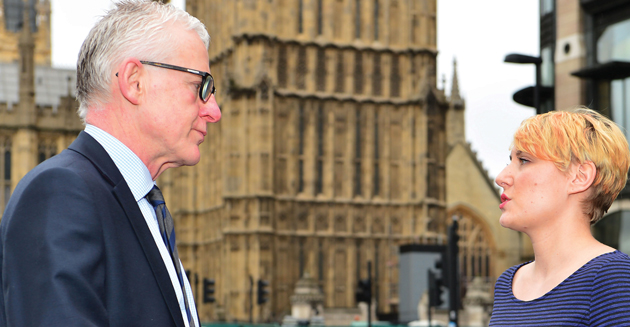 MP Norman Lamb interviewed by Schools Week reporter Sophie Scott