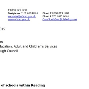 Ofsted orders urgent action over decline of Reading schools