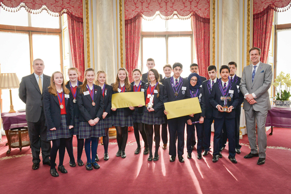 Budding tycoons celebrate success at the palace