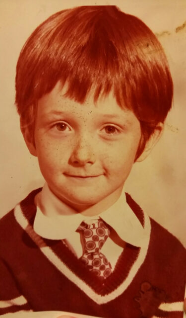 Vic during his early years at Royston Primary