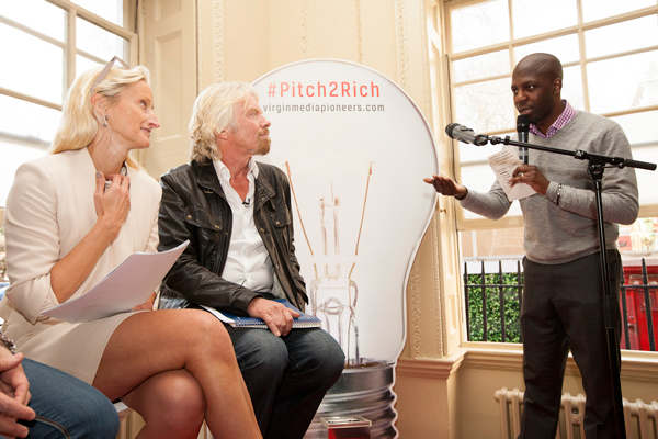 McQueen with Sir Richard Branson