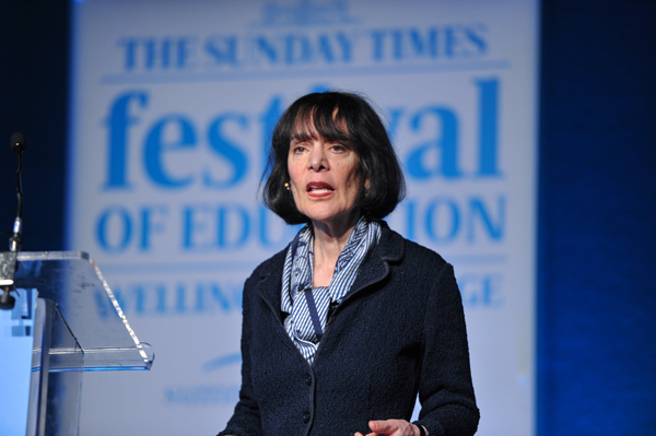 Speaking at the Festival of Education
