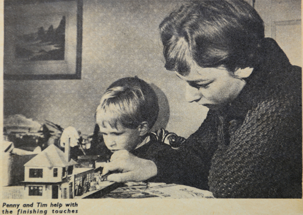 Tim as a child, as featured in the TV Times with older sister Penny