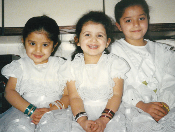 Rajbir with her two sisters (L-R Sharan, Rajbir and Sundeep)
