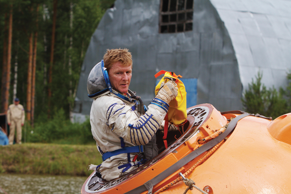 ESA astronaut Tim Peake during a water survival training session near Star City, Russia, in July last year - Photo: ESA