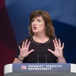 Secretary of State for Education and Minister for Women and Equalities Nicky Morgan delivers her speech to delegates in the third day of the Conservative Party annual conference at Manchester Central Convention Centre.