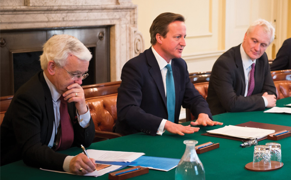 From left: Martin Vickers, MP, David Cameron and Graham Stuart