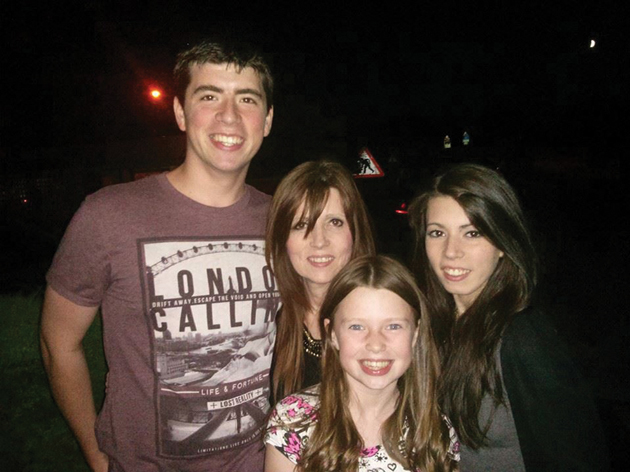 Fiona and her children, Zac, Taylor and Paloma