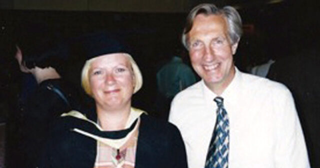 Graduation day with tutor Howard Glennerster