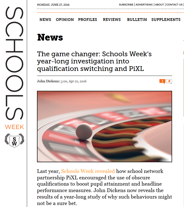 How Schools Week led the way on gaming schools