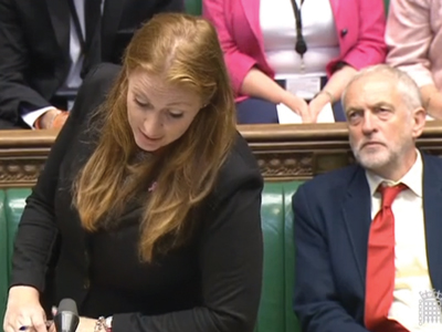 Angela Rayner and Jeremy Corbyn