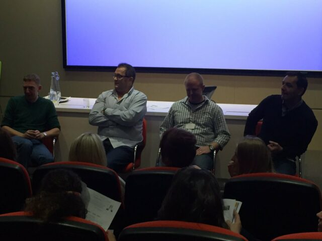 The male WomenEd panel