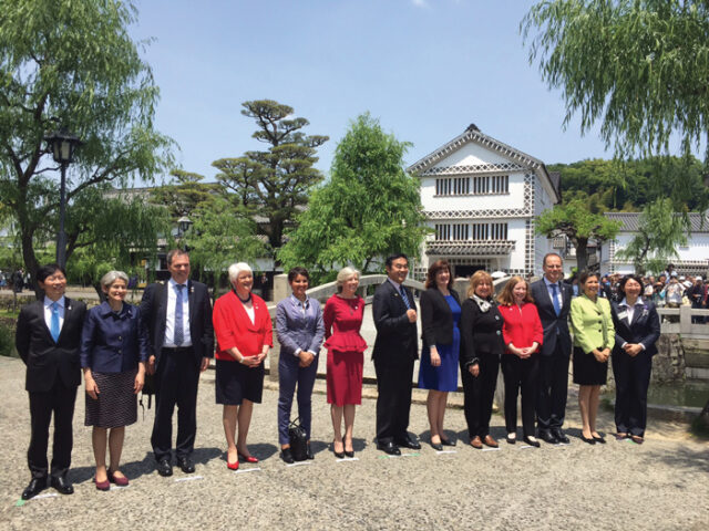 At an international education ministers' meeting in Japan, May 2014