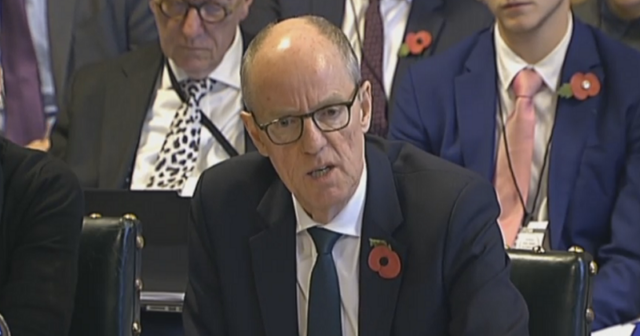 Nick Gibb giving evidence on grammar schools during the education select committee this morning