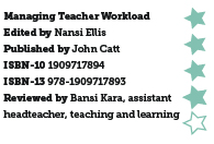 Managing Teacher Workload, edited by Nansi Ellis