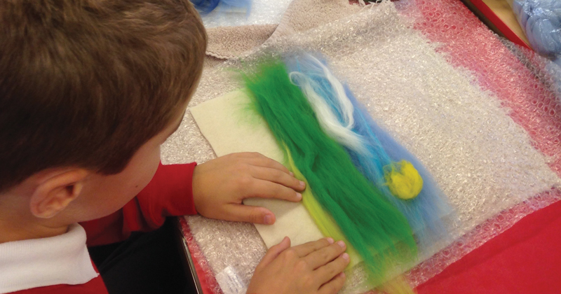 Pupils get a fuzzy feeling in felting workshop