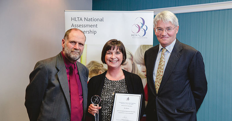Higher level teaching assistant named HLTA of the Year at Westminster ceremony