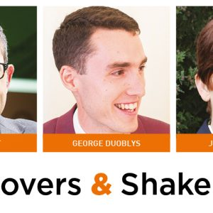 Movers & Shakers: Peter Knight, George Duoblys and Joanne Cottle
