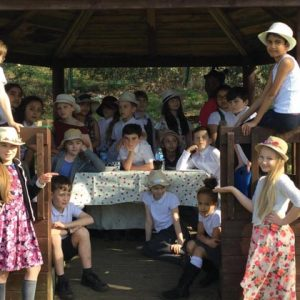 Primary pupils recreate Renoir painting to learn about distortion of images in the media